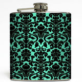 Tiffany Damask Print Flask
