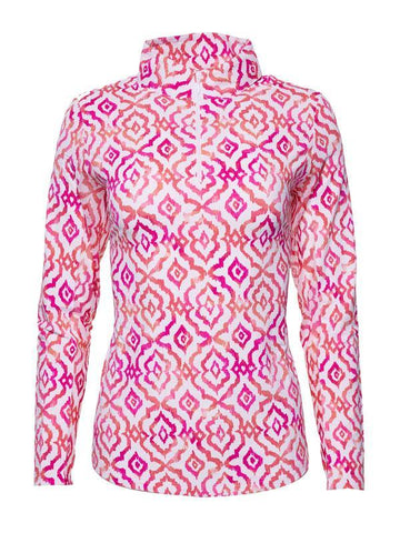 Ibkul Hollie Print Mock Neck Top