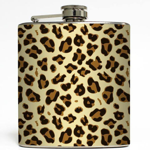 Cheetah Print Flask