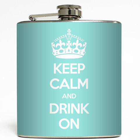 Keep Calm Print Flask