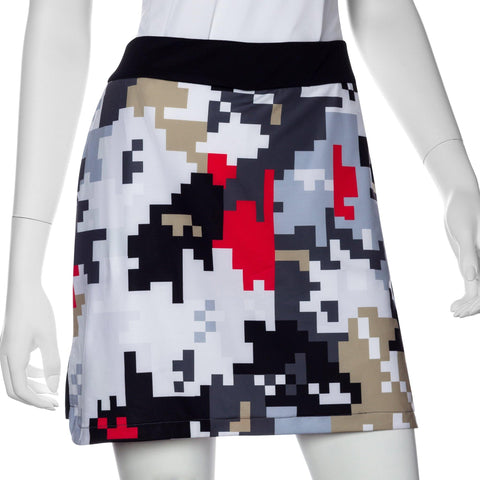 EP Pro Gold Standard Abstract Puzzle Print Blocked Skort