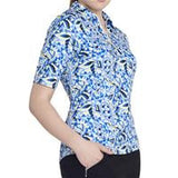 GG Blue Black Diamond Jane Short Sleeve Polo