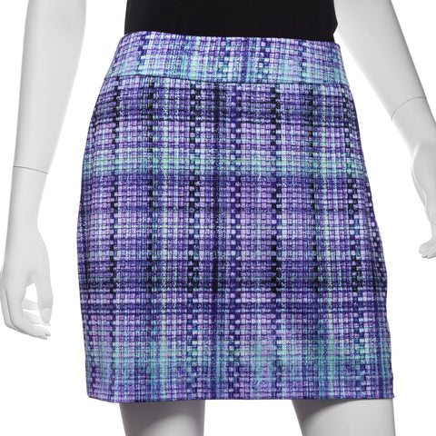 EP Pro Club Med Plaid Print Pull On Skort