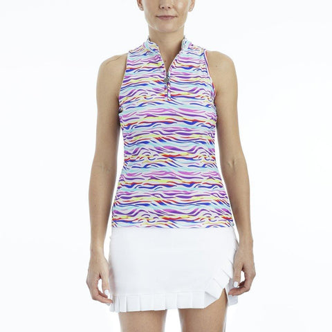 Tzu Tzu Bella Sleeveless Jellyfish Polo - Gals on and off the Green
