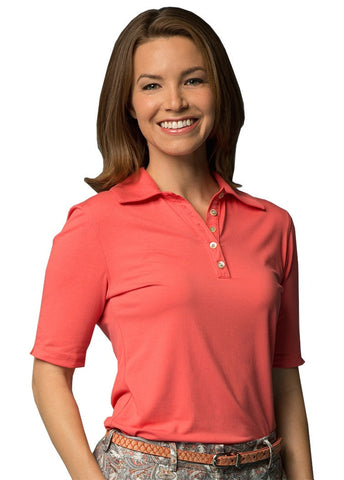 Lizzie Driver Prague Short Sleeve Polo