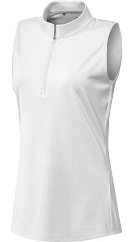 Adidas Jacquard Sleeveless Golf Polo - Gals on and off the Green