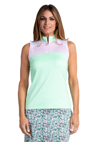 Sport Haley Aquarius Aura Sleeveless Colorblock Polo