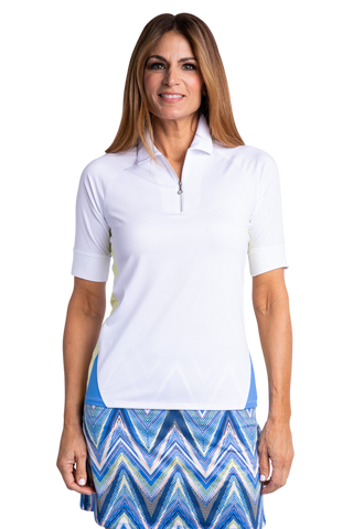 Sport Haley Riviera Corey Elbow Sleeve Polo