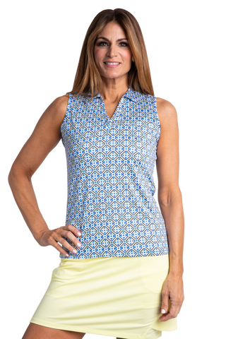 Sport Haley Riviera Blaine Sleeveless Print Polo
