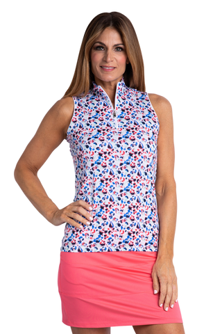 Sport Haley Nassau Heidi Sleeveless Print Polo