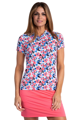 Sport Haley Nassau Flo Short Sleeve Print Polo