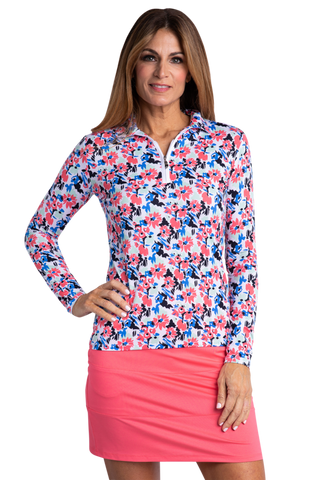 Sport Haley Nassau Flo Long Sleeve Print Polo