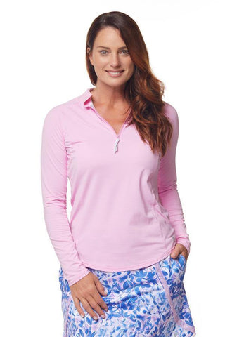 Bette & Court Mirage Sunscape Polo (Pansy)