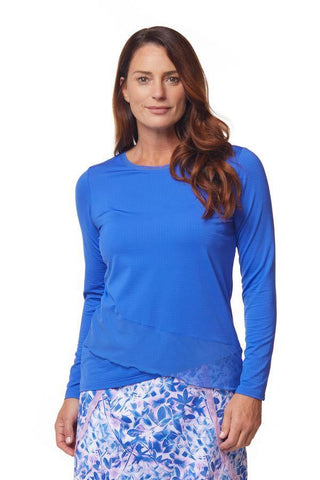 Bette & Court Mirage Crossover Long Sleeve (Cobalt)