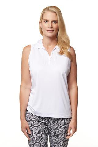 Sport Haley Hamptons Pilar Sleeveless Solid Polo