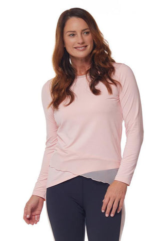 Bette & Court Wanderlust Crossover Long Sleeve Polo