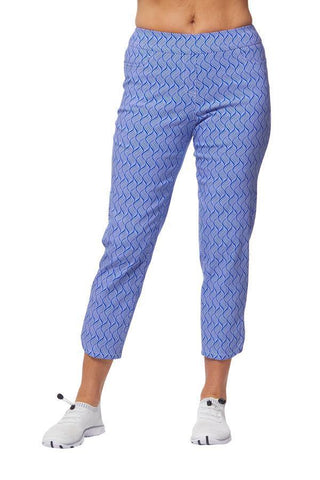 Bette & Court Mirage Slimsation Cobalt Print Dolphin Crop Pant