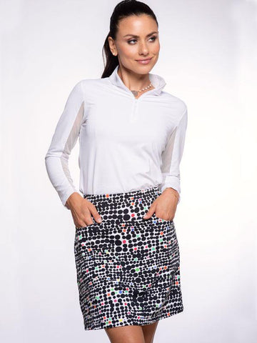 IBKUL Duo Dots Straight Skort