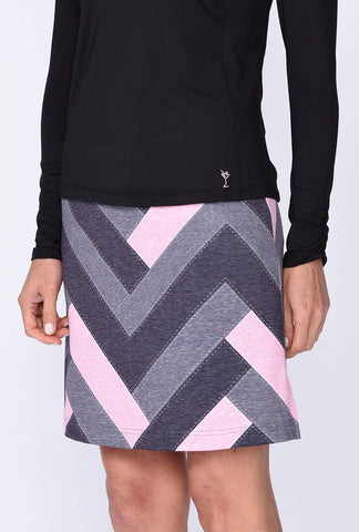 Golftini Twilight Patchwork Pull-On Tech Skort
