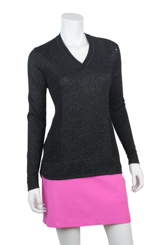 EP Pro Marbella Black V Neck Sweater