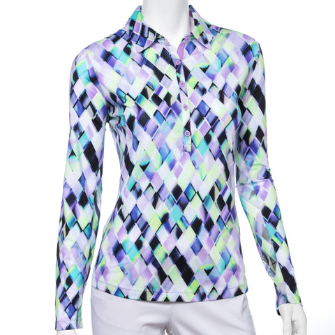 EP Pro Club Med Harlequin Print Long Sleeve