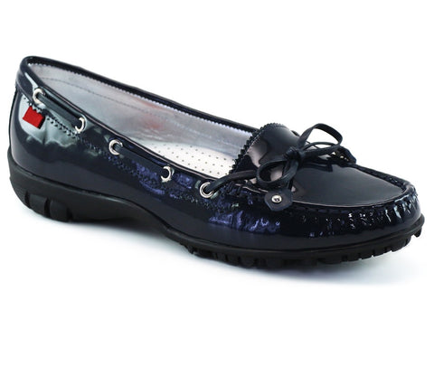 Marc Joseph Cypress Golf Shoe in Navy Patent