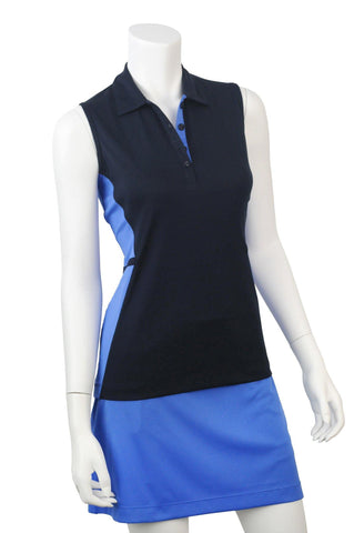 EP Pro Beyond Blue Sleeveless Color Block Polo