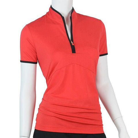 EP Pro Poppy Fields Mock Neck Polo