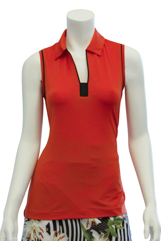 EP Pro Culture Clash Tiger Lily Sleeveless Polo