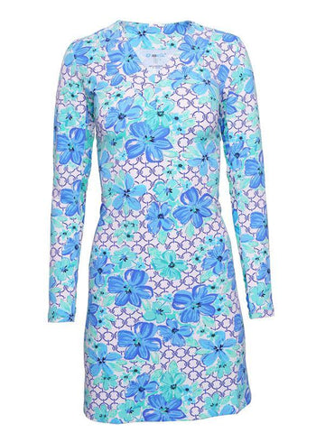 IBKUL Floral Links Long Sleeve Dress