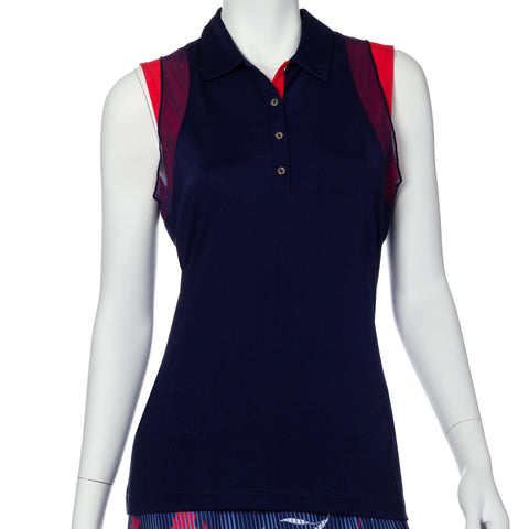 EP Pro Graphic Jam Shimmer Sleeveless Polo