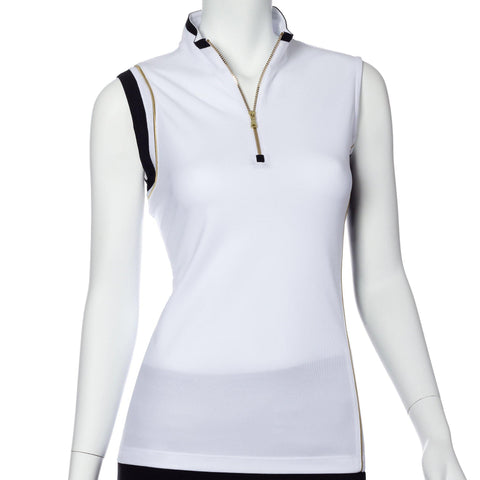 EP Pro Gold Standard Asymmetric Blocked Sleeveless Polo