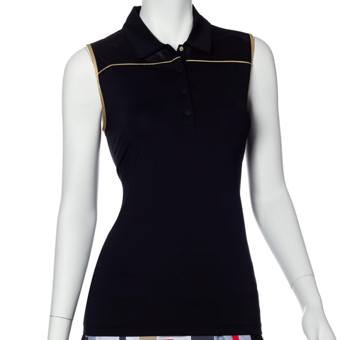 EP Pro Gold Standard Gold Trim Sleeveless Polo