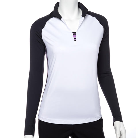 EP Pro Club Med Open Mock Neck Polo