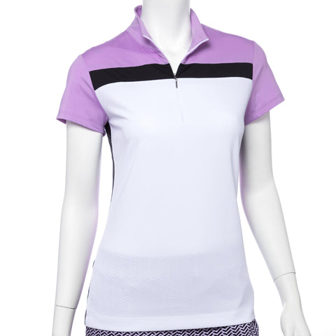 EP Pro Club Med Micro Waffle Cap Sleeve Polo