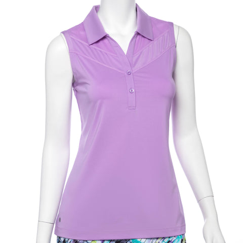 EP Pro Club Med Lilac Mist Y-Neck Polo