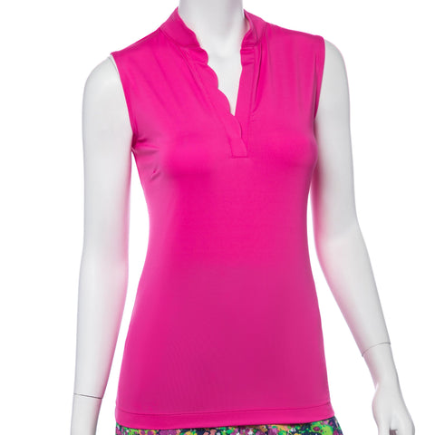 EP Pro Treasure Island Scalloped Cocktail Pink Sleeveless