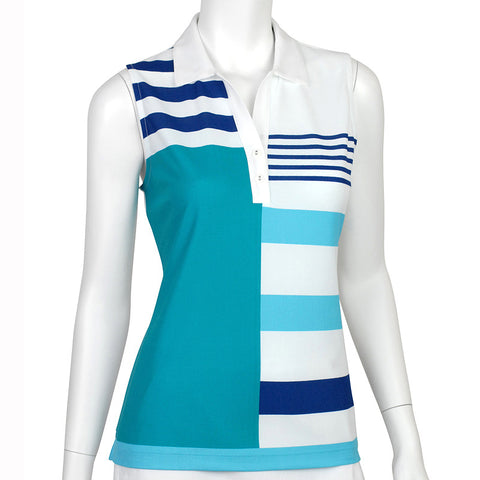 Ep Pro Mykonos Sleeveless Color Blocked Polo