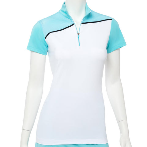 EP Pro Bora Bora Cap Sleeve Polo - Gals on and off the Green