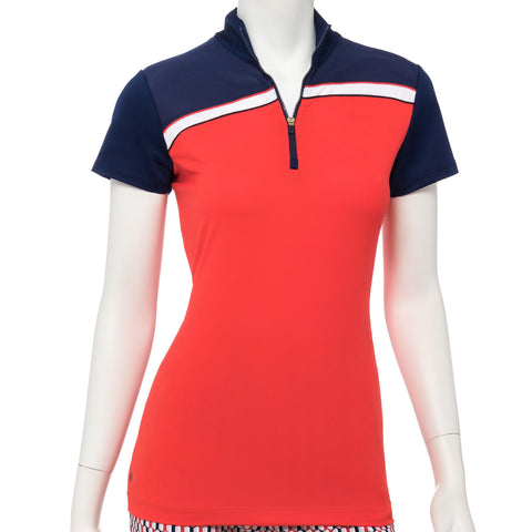 EP Pro Line Drive Cutout Back Polo - Gals on and off the Green