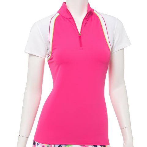 EP Pro Soleil Cap Sleeve Polo - Gals on and off the Green