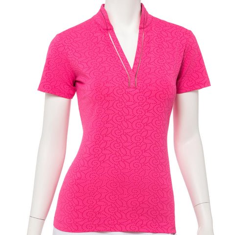 EP Pro Soleil Floral Dot Polo - Gals on and off the Green