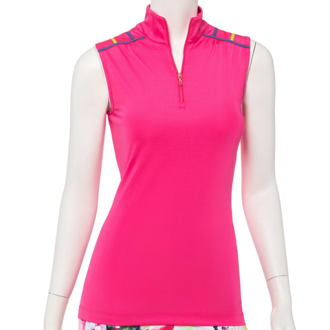 EP Pro Soleil Criss Cross Sleeveless Polo - Gals on and off the Green