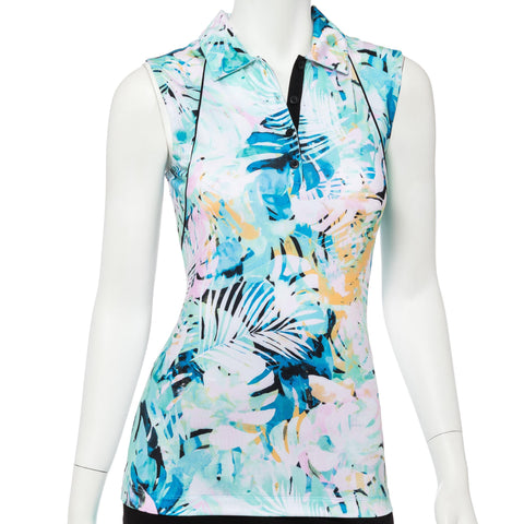 EP Pro Bora Bora Tropical Sleeveless Polo