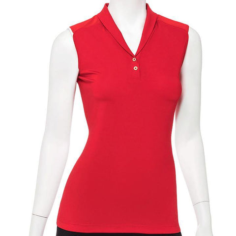 EP Pro Wild Card Sleeveless Shawl Collar Polo (Multiple Colors) - Gals on and off the Green