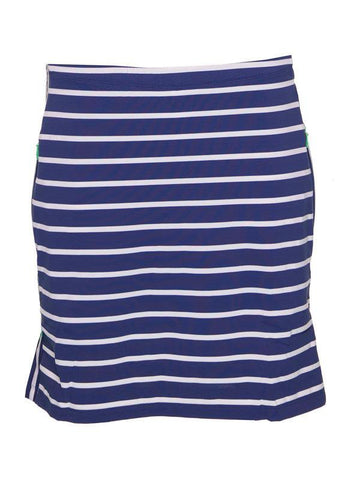 IBKUL Stripe Skort with Contrast Invisible Pocket Zips