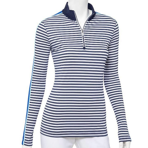 EP Pro Out of the Blue Inky Stripe Long Sleeve - Gals on and off the Green