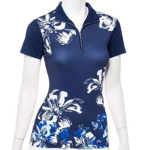 EP Pro Out of the Blue Floral Polo