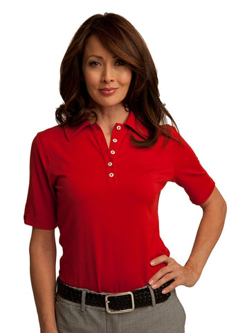 Lizzie Driver Lorain Short Sleeve Polo