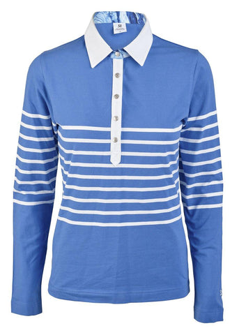 Daily Sports Gabrielle Long Sleeve Royal Polo